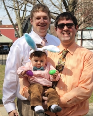 Lee & John with JR, Easter