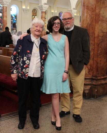 Helen, Madeleine & Fr Joel