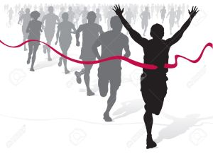 athlete-clipart-10591251-Winning-Athlete-ahead-of-a-group-of-marathon-runners--Stock-Vector